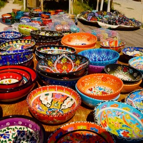 Colourful Turkish wares