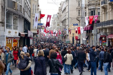 Istiklal St. Packed with people