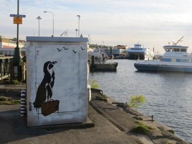 A bit of street art by the docks