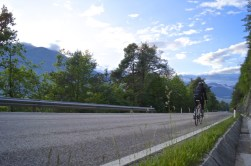 Cycling the local roads at dusk