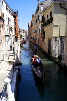 Gondola touring the water alleyways