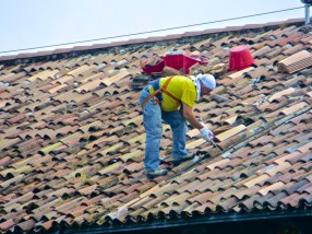 Replacing tiles 40m up