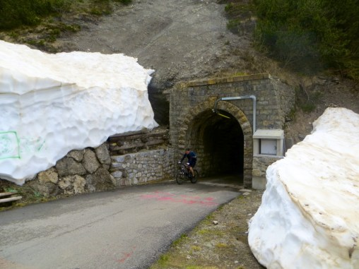 The tunnels leading to the summit