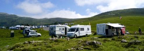 Campervans setting up shop