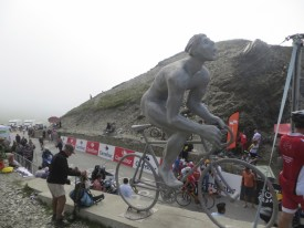 The silver cyclist