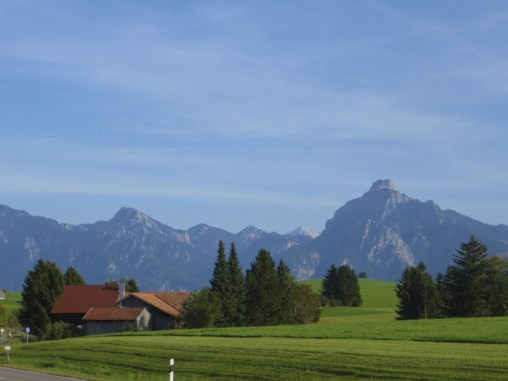 Bavarian Alps from the train