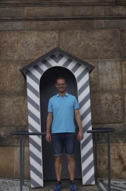 Tim in the guard box