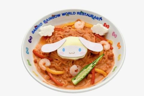 シナモロールのトマトクリームパスタ (1,200円)