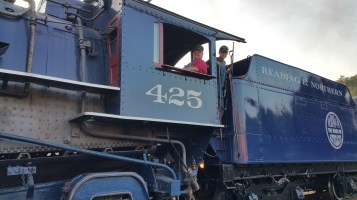 1928 Baldwin 425 Steam Engine, Locomotive, Tamaqua Train Station, Tamaqua (83)