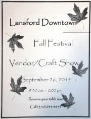 9-26-2015, Fall Festival, Vendor, Craft Show, Downtown Lansford (1)