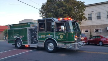 Apparatus Parade during Citz Fest, Citizens Fire Company, Mahanoy City, 8-21-2015 (49)