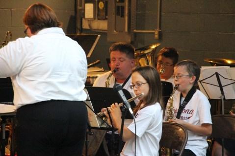 Cresona Band, and Junior Band perform, East End Playground, Tamaqua, 7-29-2015 (12)