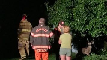 Firefighters Respond to Garage Fire in Coaldale, 8-20-2015 (7)