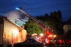 House Fire, 40-42 West Water Street, US209, Coaldale, 8-4-2015 (408)