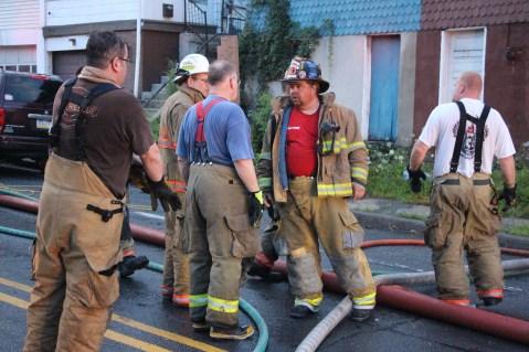 House Fire, 40-42 West Water Street, US209, Coaldale, 8-4-2015 (530)