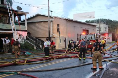 House Fire, 40-42 West Water Street, US209, Coaldale, 8-4-2015 (560)