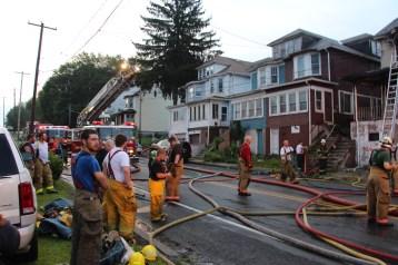 House Fire, 40-42 West Water Street, US209, Coaldale, 8-4-2015 (611)