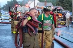 House Fire, 40-42 West Water Street, US209, Coaldale, 8-4-2015 (733)