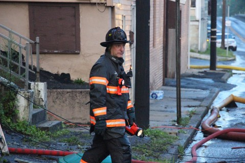 House Fire, 40-42 West Water Street, US209, Coaldale, 8-4-2015 (734)