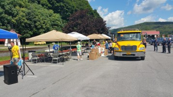 Setting Up For Salvation Army Kidz Karnival, Kids Carnival, Train Station Lot, Tamaqua, 8-4-2015 (13)