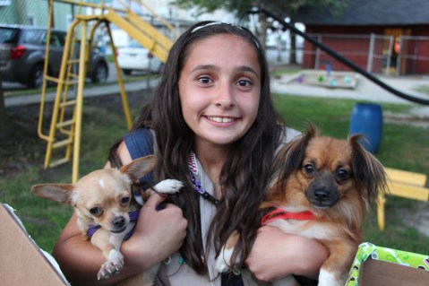 SPCA Donation Drive, Tamaqua Girl Scouts, North and Middle Ward Playground, Tamaqua, 8-13-2015 (9)