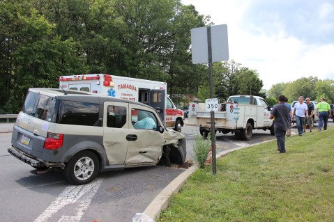 Woman Injured During Two Vehicle Accident, Tide Road, SR309, Hometown, 8-5-2015 (1)