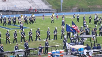 Blue Out Football Game, Benefit for Thelma Urban, Raider Band, Sports Stadium, Tamaqua, 9-4-2015 (124)