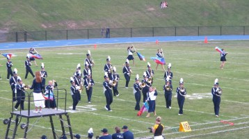 Blue Out Football Game, Benefit for Thelma Urban, Raider Band, Sports Stadium, Tamaqua, 9-4-2015 (153)