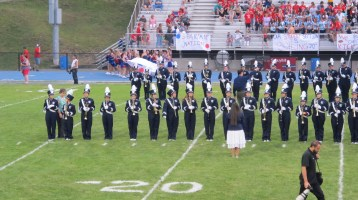 Blue Out Football Game, Benefit for Thelma Urban, Raider Band, Sports Stadium, Tamaqua, 9-4-2015 (204)