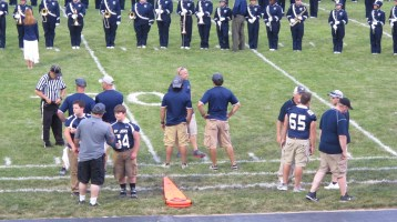 Blue Out Football Game, Benefit for Thelma Urban, Raider Band, Sports Stadium, Tamaqua, 9-4-2015 (213)