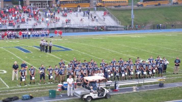 Blue Out Football Game, Benefit for Thelma Urban, Raider Band, Sports Stadium, Tamaqua, 9-4-2015 (252)