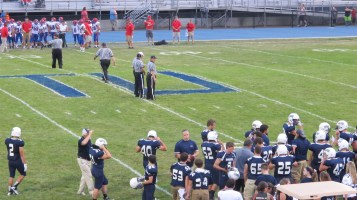 Blue Out Football Game, Benefit for Thelma Urban, Raider Band, Sports Stadium, Tamaqua, 9-4-2015 (258)