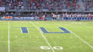 Blue Out Football Game, Benefit for Thelma Urban, Raider Band, Sports Stadium, Tamaqua, 9-4-2015 (415)