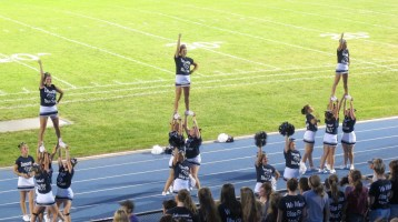 Blue Out Football Game, Benefit for Thelma Urban, Raider Band, Sports Stadium, Tamaqua, 9-4-2015 (427)