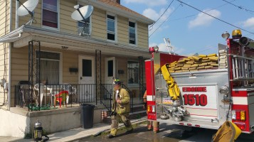 House Fire, Smoke, West Water Street, Lansford, 9-1-2015 (37)