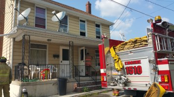House Fire, Smoke, West Water Street, Lansford, 9-1-2015 (39)