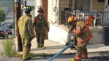 House Fire, Smoke, West Water Street, Lansford, 9-1-2015 (40)