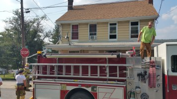 House Fire, Smoke, West Water Street, Lansford, 9-1-2015 (63)