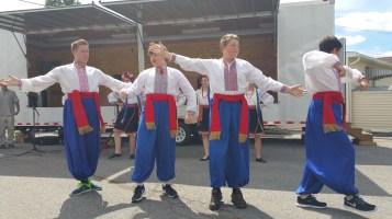 Kazka Ukrainian Folk Ensemble, during Parish Picnic, St. Mary's Ukrainian Catholic Church, McAd (47)