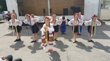 Kazka Ukrainian Folk Ensemble, during Parish Picnic, St. Mary's Ukrainian Catholic Church, McAd (50)