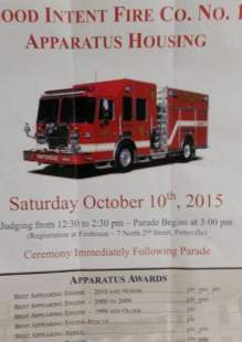 10-10-2015, Pumper Truck Housing Parade and Dedication, Ceremony After Parade, Good Intent Fire Company, Pottsville