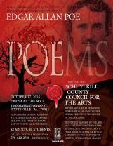 10-17-2015, Edgar Allan Poe Poems, Schuylkill County Council for the Arts, Pottsville