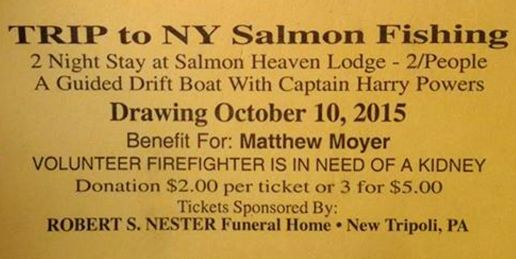 10-3-2015, Raffle, Benefit and Poker Run for Firefighter Matthew Moyer, West Penn Rod and Gun Club, West Penn