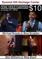 10-9-2015, Comedy Night Coal Hole Canteen, Heritage Center, Summit Hill