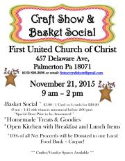 11-21-2015, Craft Show and Basket Social, First United Church of Christ, Palmerton