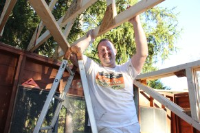 Building a Cabin from Camp Brainerd, Lower Owl Creek Reservoir, Tamaqua, 10-11-2015 (7)