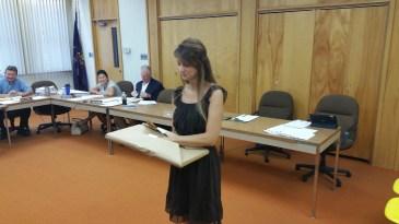 Leona Rega, Award, Tamaqua Borough Council Meeting, Borough Hall, Tamaqua, 9-1-2015 (5)