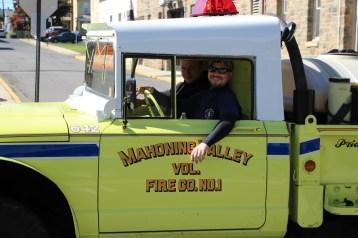 Parade for New Fire Station, Pumper Truck, Boat, Lehighton Fire Department, Lehighton (217)