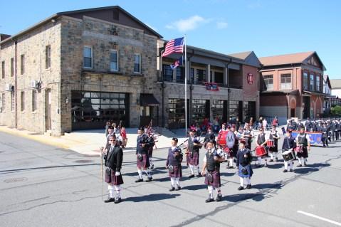 Parade for New Fire Station, Pumper Truck, Boat, Lehighton Fire Department, Lehighton (243)