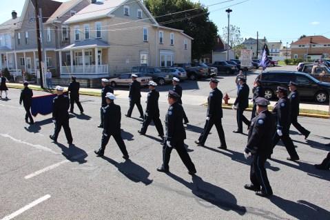 Parade for New Fire Station, Pumper Truck, Boat, Lehighton Fire Department, Lehighton (276)